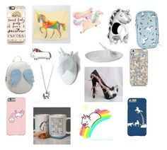 """Adorable unicorn accessories"" by fred-the-muppet on Polyvore featuring Bling Jewelry, Chicnova Fashion, Casetify, Tallulah's Threads, Imm Living and unicorn"