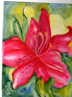 Original Watercolor Pink Azalea Painting   5 by by SharonFosterArt, $15.00
