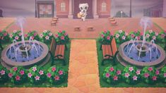Animal Crossing Town Tune, Animal Crossing Guide, Animal Crossing Memes, Animal Crossing Qr Codes Clothes, Animal Games, My Animal, Plaza Design, Ac New Leaf, Motifs Animal