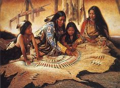 Native American (Plains Indians) tribute - paintings portray those Native Americans who lived on the Great Plains! There were many kinds of Native American cultures which were very different from the ones on the Plains! Native American Paintings, Native American Wisdom, Native American Beauty, Indian Art Paintings, Native American Artists, American Indian Art, Native American History, American Indians, Native Indian
