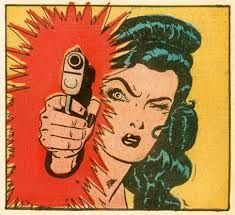 La Peregrina retro vintage girl with gun pop art comic book illustration Bd Comics, Comics Girls, Marvel Comics, Space Ghost, Comic Books Art, Comic Art, Book Art, Arte Pop, Pulp Fiction