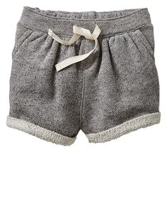 Marled knit shorts Toddler girls