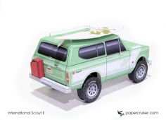 International Scout II paper model | http://papercruiser.com/downloads/international-scout-2-rallye/