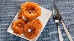 Receta de Cómo hacer aros de cebolla en tempura #arosdecebolla #tempura