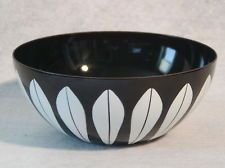 CATHRINEHOLM Enamel Bowl BLACK Lotus