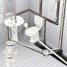 Check out this essential picture and take a look at the provided suggestions on Home Renovation Bathroom Bathroom Floor Plans, Basement Bathroom, Bathroom Flooring, Bathroom Design Small, Bathroom Layout, Bathroom Interior Design, Design Bedroom, Bathtub Plumbing, Plumbing Drains