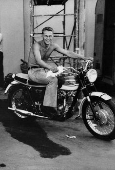 Steve McQueen, 1966 #motorcyclesculture | caferacerpasion.com