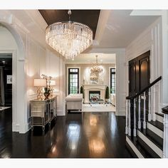One of my favorite foyers to date! By Castlewood Custom Builders