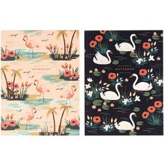 Flamingos & Swans! Rifle Paper Co. Birds of a Feather Journals