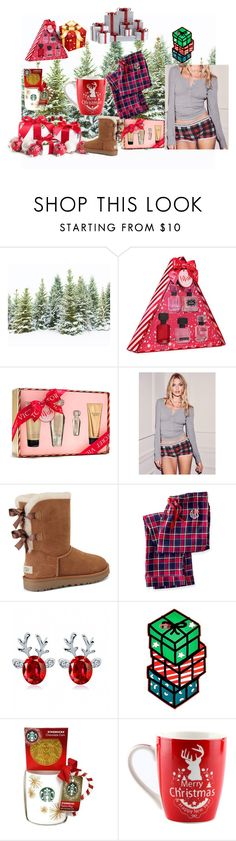 """""""Xmas"""" by star-lightt ❤ liked on Polyvore featuring Victoria's Secret, UGG, Mark & Graham and Whimsical Shop"""