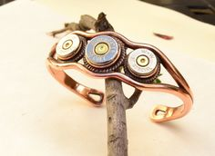 Bullet Casing Jewelry - Copper Cuff Bracelet - Winchester Shell Casings - READY TO SHIP. $65.00, via Etsy.