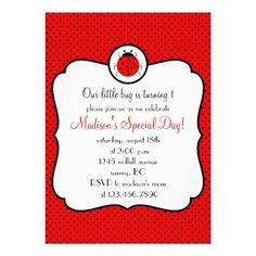 Framed ladybug birthday party invitation    http://www.zazzle.com/framed_ladybug_birthday_party_invitation-161467082849290533?rf=238054730988202408