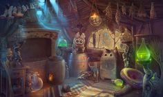 magic kitchen by anna v tanke deviantart com on @DeviantArt Fantasy art landscapes Fairytale art Painting