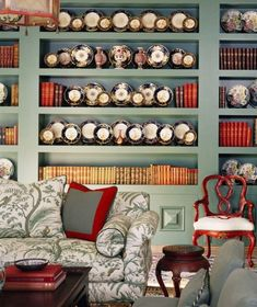 Home Library And Living Room Design home trends design photos, home design picture at Home Design and Home Interior Home Library Design, Library Ideas, Library Room, Living Room Designs, Living Spaces, White Laundry Rooms, Built In Shelves, Book Shelves, Built Ins