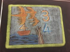 Numbers Three and Four drawn by Kim Stuart, Roseway Waldorf School, KZN, South Africa