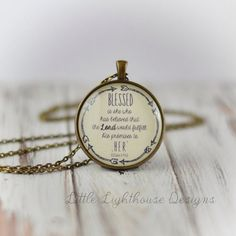 Blessed Necklace Christian Pendant Necklace Scripture Jewelry Scripture Necklace Inspirational Gift