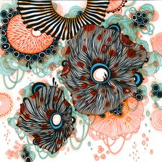 """""""Fleet"""" by Yellena James Doodles Zentangles, Zentangle Patterns, Yellena James, Mural Wall Art, Fantasy Paintings, Flower Doodles, Zen Art, Art Journal Inspiration, Graphic Design Art"""