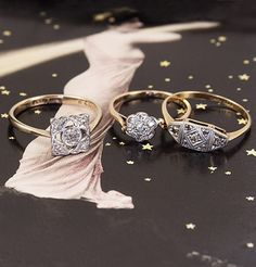Beautiful 1900s rings from Erica Weiner (more on Hurray Kimmay) #EricaWeiner #vintage @Erica Weiner