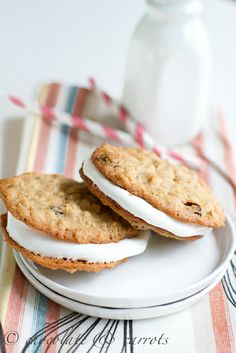 Whole Wheat Oatmeal Raisin Cream Pies from Chocolate & Carrots. Sounds deliscious and healthy