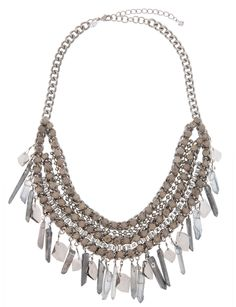 Jeweled and Stone Statement Necklace | Women's Plus Size Jewelry | ELOQUII