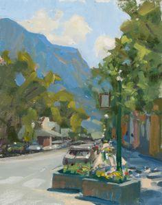 "Chad Smith ""Elk Ave. East"" 10""x8"" Oh-Be-Joyful Gallery www.ohbejoyfulgallery.com"