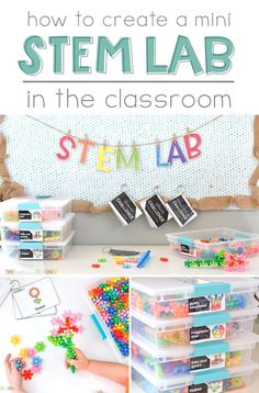 Bring STEM to your classroom everyday with a mini STEM Lab! Great post outlining the ins and outs of creating a unique and curiosity driven space! Informations About Create a Mini Science Lessons, Teaching Science, Science Experiments, Teaching Ideas, Teacher Resources, Science Ideas, Science Education, Science Curriculum, Teacher Tools