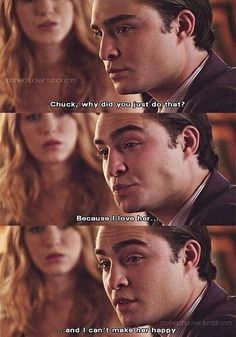 aww :,,( love chuck bass ohh you can so make her happy gossip girl chuck and blair. the part he told her it was just a game, and he didn't want to lose. Gossip Girl Chuck, Gossip Girls, Mode Gossip Girl, Gossip Girl Quotes, Gossip Girl Scenes, Gossip Girl Funny, Tv Show Quotes, Movie Quotes, Chuck Bass Quotes