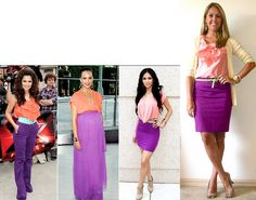 Ideas for my purple skirt like pink and purple together