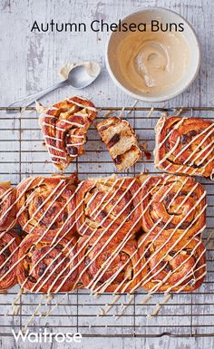 You can't beat Chelsea buns and the Waitrose recipe for Autumn Chelsea buns is no exception, especially when drizzled with golden icing.