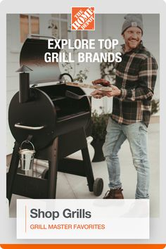 Whether you're camping out, tailgating or simply entertaining in your backyard, we have the perfect grill for you. Shop our selection of charcoal grills, portable grills, smokers, gas grills, pellet grills, and more at The Home Depot.