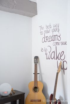 slaapkamer schilderen on Pinterest  Wall quotes, Vinyl wall quotes ...