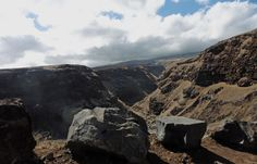 Maui, Hawaii. The back side of Haleakala. Deserted lavascapes, landscapes created by lava flows, on the Hana Highway.