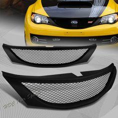 For 2008-2010 Subaru Impreza WRX JDM Sport Front Hood Black Mesh Grill Grille   eBay