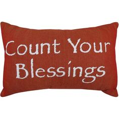 Park B. Smith ''Count Your Blessings'' Red Throw Pillow, Other Clrs
