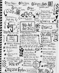 julie hamilton designs {artistically afflicted} art journal page #makeartthatsells