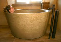 Concrete Bath Tubs   Ofuro Soaking Tub from Sonoma Cast Stone