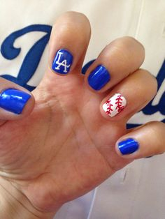 It S Time For Dodger Baseball Nails Done Opening Day Love My Boyz In Blue 4 14 2018 Pinterest