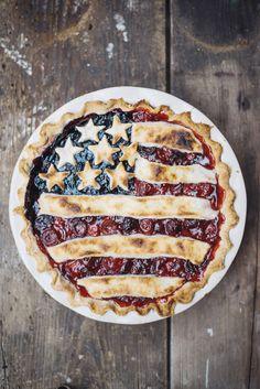 "simply-divine-creation: All-American Pie w/. - simply-divine-creation: "" All-American Pie w/ Lemon Butter Crust American Pie, American Flag, All American Food, American Party, Bbq Dessert, Dessert Recipes, Beautiful Pie Crusts, Butter Crust, Lemon Butter"