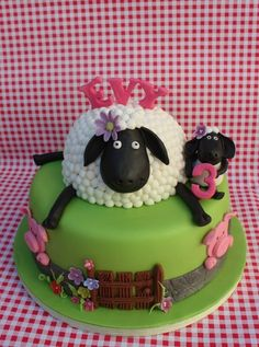 Shaun the Sheep Birthdy-cake.