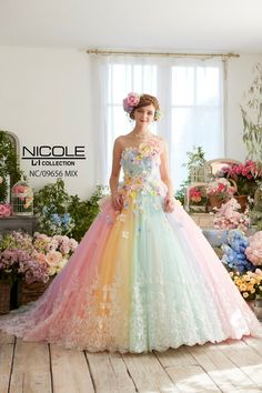 Glamour gloss fashion the dress pinterest glamour pastels niko inuyamagifu selectfc 258sc 842niko floral ballgownrainbow dressesrainbow wedding dressgorgeous junglespirit Image collections