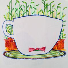 """Mr. Coffee, I presume..."" markers in the sketchbook."