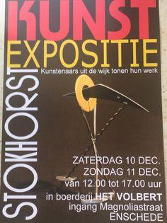 #ENSCHEDE #kunst #Expositie #Stokhorst 10-11 december 2016 #Boerderij #HetVolbert