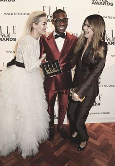 Rita Ora Tinie Tempah and Cara Delevingne at the Elle Style Awards