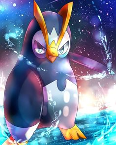 It's Prinplup, the first evolution form of Piplup. Pokemon Pins, Pokemon Images, Pokemon Fan Art, Pokemon Pictures, Pokemon Pokemon, Pokemon Stuff, Pokemon Fusion, Pokemon Cards, Pokemon Starters
