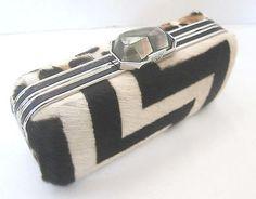 Rafe New York Demi Exotic Box Clutch Shoulder Bag Pearl Clasp