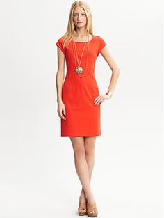 Cap sleeve ponte knit dress | Banana Republic - For work, now that I have to start dressing like an adult