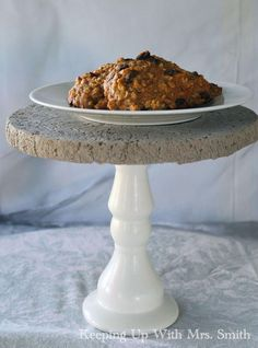 how to make a beautiful concrete cake stand using quikrete, concrete masonry, crafts, how to, repurposing upcycling