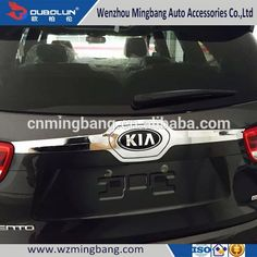 HOT SELL! stainless steel/ABS chrome rear trunk streamer for 2015 Kia Sorento