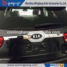 HOT SELL! stainless steel/ABS chrome rear trunk streamer for 2015 Kia Sorento