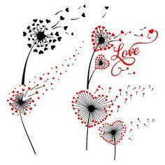 Dandelion Flower Heart Love in the Wind Pack Cuttable Design Cut File. Vector, Clipart, Digital Scrapbooking Download, Available in JPEG, PDF, EPS, DXF and SVG. Works with Cricut, Design Space, Sure Cuts A Lot, Make the Cut!, Inkscape, CorelDraw, Adobe Illustrator, Silhouette Cameo, Brother ScanNCut and other compatible software.